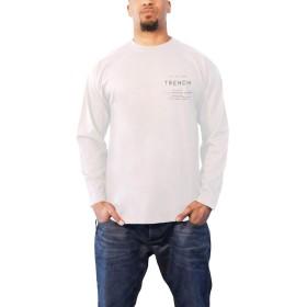 公式 Twenty One Pilots T Shirt Trench Rose Band Logo メンズ ホワイト Long Sleeve Size XL