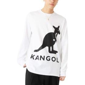 ホワイト×ブラック L (ベストマート)BestMart ベストマート × KANGOL ビッグ プリント ロング スリーブ Tシャツ メンズ 624519-006-224