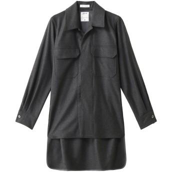 MADISONBLUE マディソンブルー 【予約販売】フランネルオープンカラーシャツ グレー