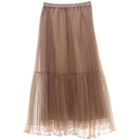 SALE 【30%OFF】 The Virgnia ザ ヴァージニア オーガンジーカラースカート ベージュ