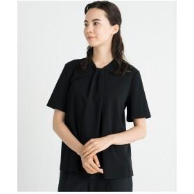 自由区 【洗える】HIGH TWIST ジャージーカットソー Tシャツ・カットソー,ブラック系