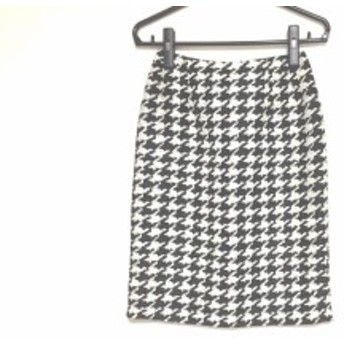 ユキトリイ YUKITORII スカート サイズ11 M レディース 黒×白 ラメ【中古】