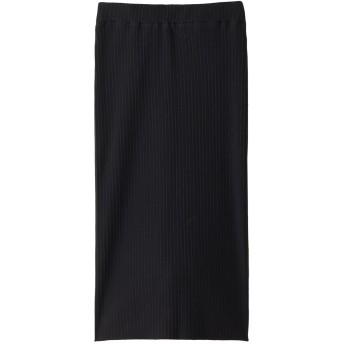 martinique マルティニーク バックスリットスカート ブラック