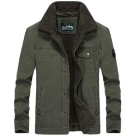 chenshiba-JP Mens Fall Winter Fleece Lined Borg Collar Sherpa Trucker Jacket Jean Denim Jacket 4 S