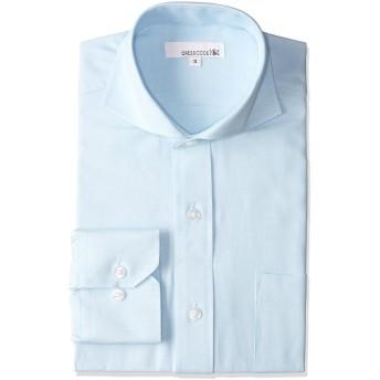 [ドレスコード101] オックスフォード ドレスシャツ 長袖 ワイシャツ Yシャツ シャツ メンズ スリム パープル DC7004C-4588 ブルー 日本 3L (日本サイズ3L相当)