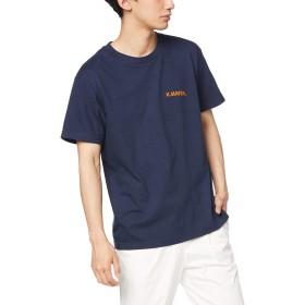 [クリフメイヤー] ブランドロゴ TEE [Adventure] メンズ Tシャツ 半袖 プリントTシャツ トップス コットン クルーネック バックプリント LARGE ネイビー