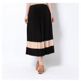 スピーガ SPIGA 裾異素材プリーツスカート (クロ)