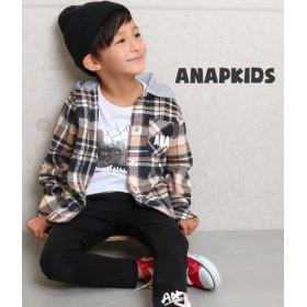 ANAP KIDS(キッズ)フード付チェックシャツ