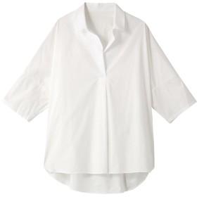 allureville アルアバイル スキッパー半袖シャツ ホワイト