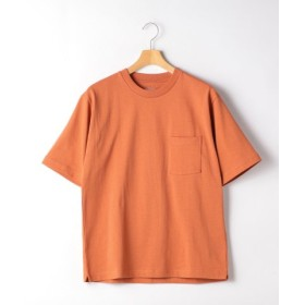 (green label relaxing/グリーンレーベルリラクシング)SC ヘビーウェイト クルー 半袖 Tシャツ/メンズ ORANGE