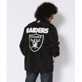 (AVIREX/アヴィレックス)【×NFL】NFL コーチジャケット レイダース/NFL COACH JACKET RAIDERS/メンズ BLACK 送料無料