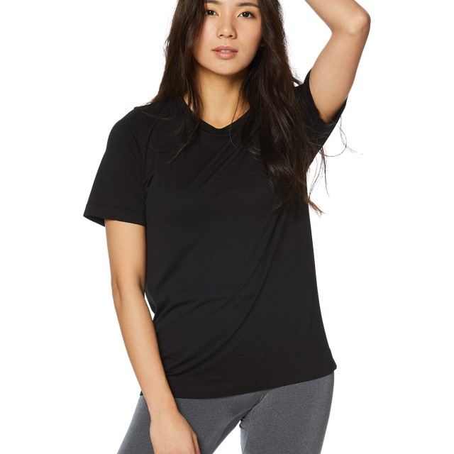 [ダンスキン] フィットネスウェア NONSTRESS ルーズTシャツ [レディース] DA79101 ブラック (K) 日本 フリーサイズ (FREE サイズ)