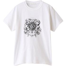 SALE 【50%OFF】 allureville アルアバイル ヴィンテージエンブレムTシャツ ホワイト