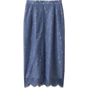 Whim Gazette ウィム ガゼット antik dantel レーススカート ブルー