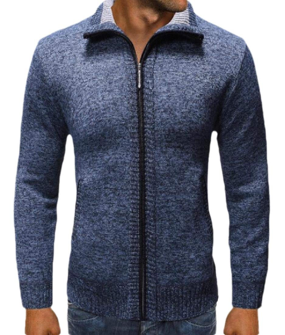 ouxiuli Mens Slim Fit Basic V-Neck Long Sleeve Button-Down Cardigan Sweater