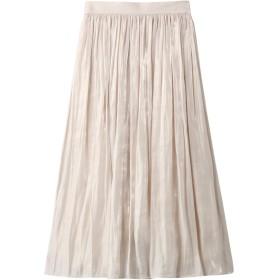 allureville アルアバイル プラチナ割繊サテンギャザースカート ホワイト