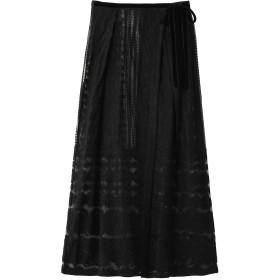 1er Arrondissement プルミエ アロンディスモン 【ne Quittez pas】刺繍スカート ブラック