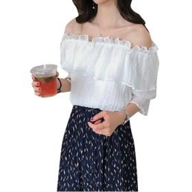 Remhopレディースファッション 夏 トップス セクシー ジョーゼット オフショルダー 半袖 おしゃれ かわいい 大きいサイズ 無地 ブランド
