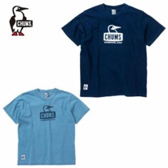 チャムス CHUMS Tシャツ 半袖 メンズ レディース ブービーフェイスTシャツインディゴ Booby Face T-Shirt Indigo CH01-1484 od