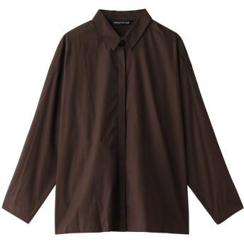 SALE 【30%OFF】 mizuiro ind ミズイロインド フロントフライシャツ ブラウン