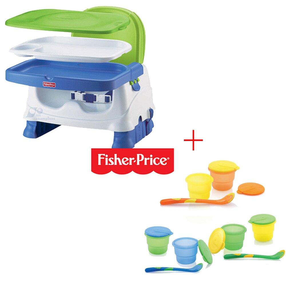 【奇買親子購物網】費雪牌 Fisher-Price寶寶小餐椅+Nuby 副食品儲存盒120ml(附匙)/顏色隨機出貨。嬰幼兒與孕婦人氣店家奇買親子購物網的首頁有最棒的商品。快到日本NO.1的Rakut