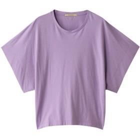 Curensology カレンソロジー ドライジャージドルマンTシャツ ラベンダー