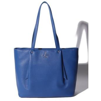 ランバンオンブルー ロゴ金具付きビッグトートバック レディース ブルー F 【LANVIN en Bleu】