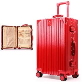 IPO レディース スーツケースドイツ品質機内持込ダブルTSAロック軽量静音防水人気トラベルバッグトランクPC + ABSアルミ8輪Wキャスターカバン掛けシステムタグ付き国内出張から海外旅行まで対応5サイズ4色展開