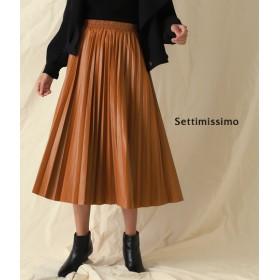 【セール開催中】ANAP(アナップ)エコレザープリーツロングスカート