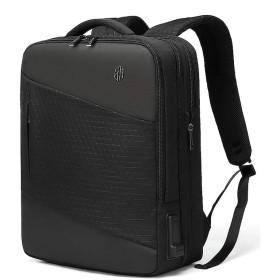 リュック ビジネスリュック バックパック メンズ リュックサック 大容量 防水3way USB 充電ポート 19-32L 黒 one