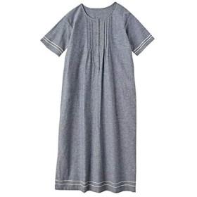 [nissen(ニッセン)] 半袖 ワンピース 大きいサイズ レディース ネイビー系 3L