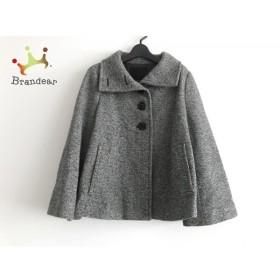 アンタイトル UNTITLED コート サイズ4 XL レディース 美品 グレー×白×黒 冬物/ショート丈 新着 20190826