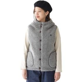 [ジムフレックス] Gymphlex T/A BOA くるみボタン ボア フードベスト・J-1069PL 【予約商品】 14(Women's M) / heather grey