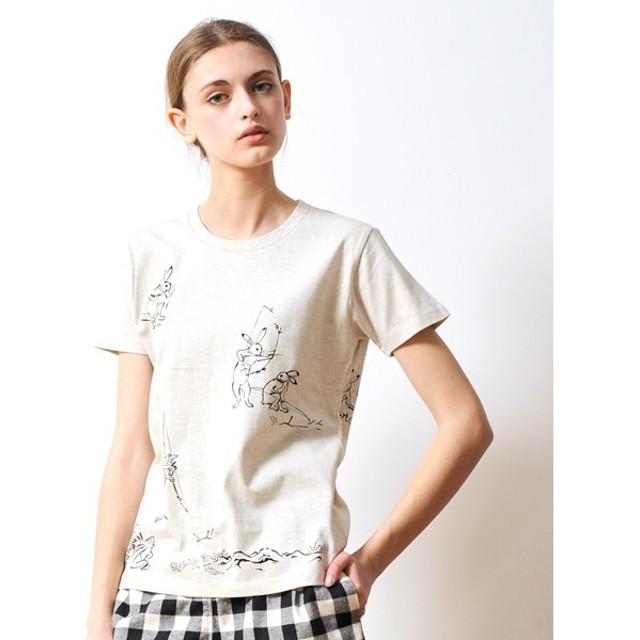 [マルイ] 【ユニセックス】Tシャツ/弓矢(鳥獣戯画)/グラニフ(graniph)