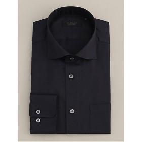 <ダーバン/DURBAN> サックス コットンツイル ワイドカラー ドレスシャツ(1608421208) ネービー【三越・伊勢丹/公式】