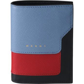 MARNI マルニ 【ELLE SHOP 10周年限定】VANITOSI 2つ折り財布 ライトブルー×レッド×ブラック