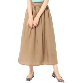(ノーリーズ) NOLLEY'S ギャザースカート 9-0242-1-06-013 34 キャメル