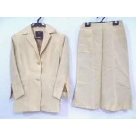 エストネーション ESTNATION スカートスーツ サイズ36 S レディース ベージュ【中古】