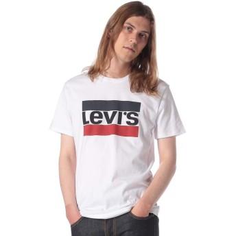 (リーバイス) Levis 綿100% トリコロールロゴ クルーネック 半袖 Tシャツ ホワイト/M