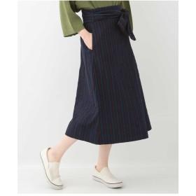 GIANNI LO GIUDICE ストライプラップ風スカート その他 スカート,ネイビー
