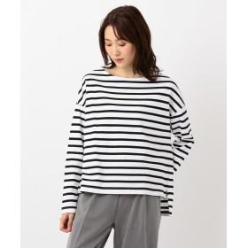 SHARE PARK シェアパーク コットンボーダーワイドロング Tシャツ