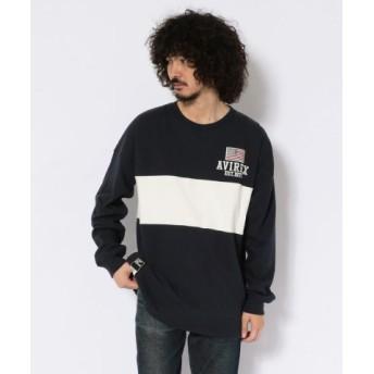 (AVIREX/アヴィレックス)ヴァーシティー ラガー クルーネック Tシャツ/VARSITY RUGGER T-SHIRT/メンズ ROYAL 送料無料