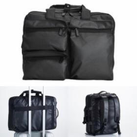 ビジネスバッグ 3way メンズ  ブリーフケース 仕事 出張 通勤 B4ファイルサイズ ハミルトン ダブルPUシリーズ 3way ブラック 26608