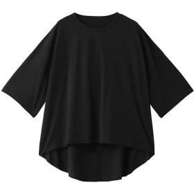 MAISON SPECIAL メゾン スペシャル バックオープンワイドTシャツ BLK(ブラック)