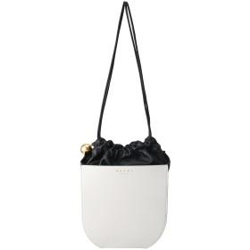 MARNI マルニ COFFER 巾着ショルダーバッグ ライムストーン×ポンペイ×ブラック