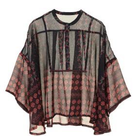 【6,000円(税込)以上のお買物で全国送料無料。】【EVRIS】サーキュラーパターンシャツ