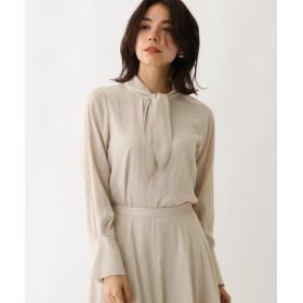 【28%OFF】 アクアガール スプリットフローレットボウタイシャツ レディース オフホワイト(003) 38(M) 【aquagirl】 【タイムセール開催中】