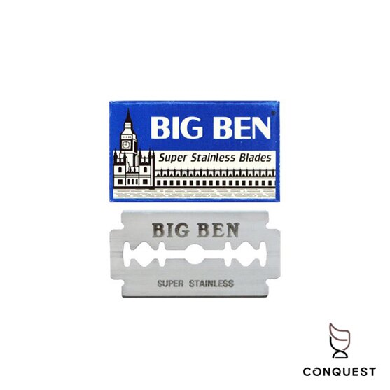 【 CONQUEST 】埃及 LORD BIG BEN 刮鬍刀片 雙面安全刀片 替換刀片 剃刀刀片 10片裝