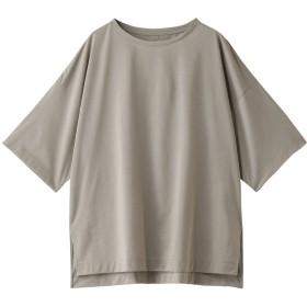 GALLARDAGALANTE ガリャルダガランテ ライトクールオーバーTシャツ グレージュ