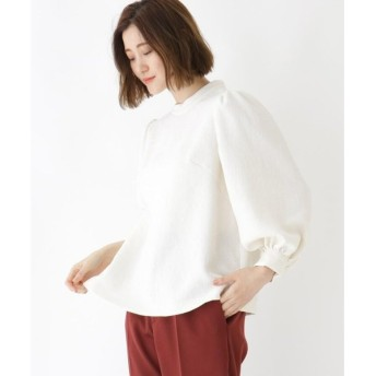DRESSTERIOR / ドレステリア 【洗える】ストレッチジョーゼットボリューム袖シャツ
